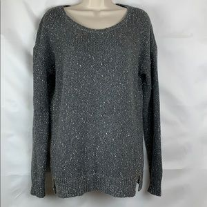 Banana Republic scoop neck grey tweed sweater